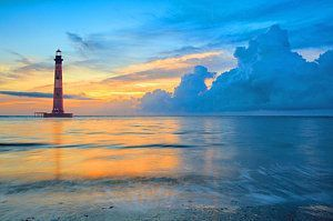 Morris Island Lighthouse Photograph - Morris Island Lighthouse by Keith Allen