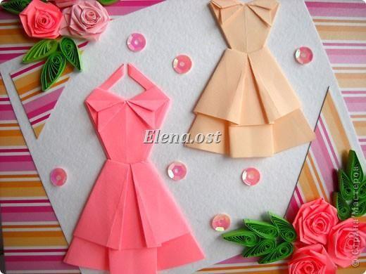 Платье оригами из бумаги