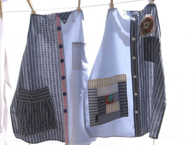 Aprons made from shirts