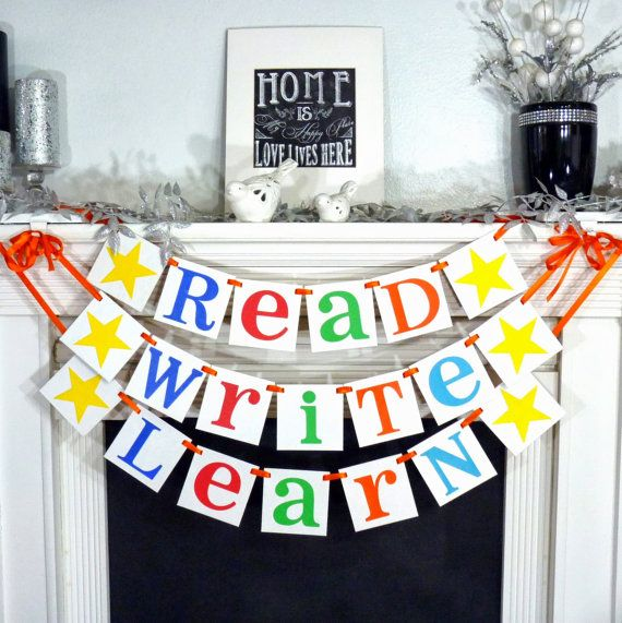 I want my classroom to be colorful, and encourage reading and writing so I think this would be so cute in a reading corner hanging on the wall.