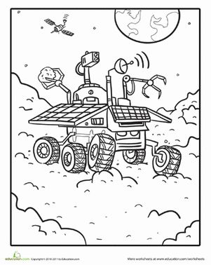 mars coloring pages | 88 best Solar System, Sun, Moon & Stars Color or Paint ...
