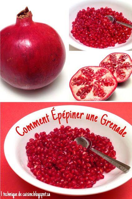 1 technique de cuisine: Comment Épépiner une Grenade (Pomme Grenade)