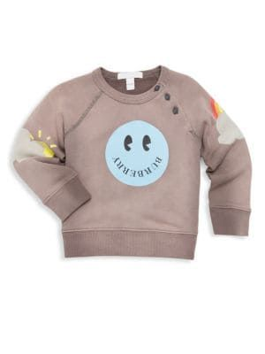 fb0948bc00e0 Burberry - Baby Girl s   Little Girl s Smiley Crewneck Sweater ...