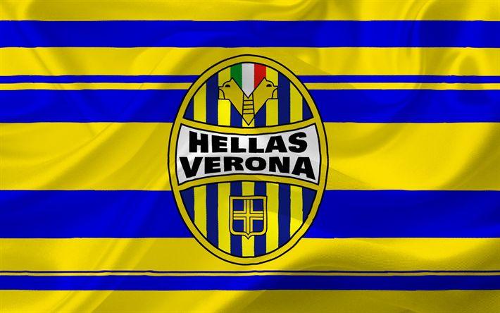 Descargar fondos de pantalla Hellas Verona, el fútbol, el Logotipo, la Serie a, Italia, club de fútbol, el emblema de