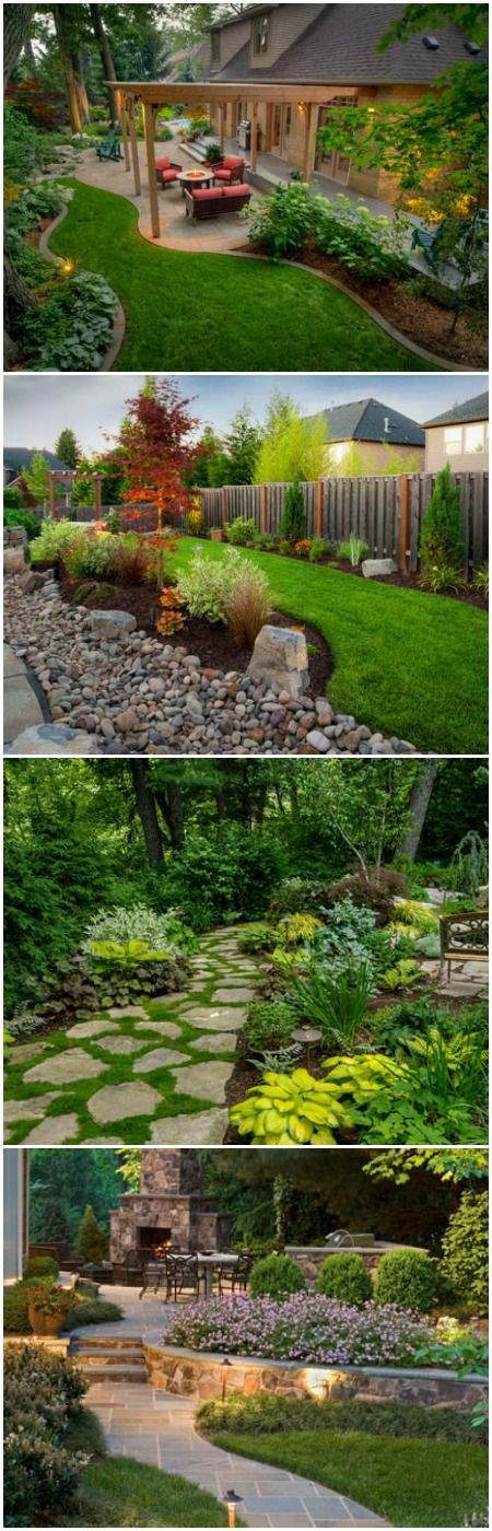 Best 25 backyard landscaping ideas on pinterest outdoor for Landscaped back gardens
