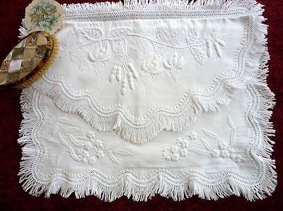 Mountmellick embroidery/crewel needle work - lost art - this is a nightdress case
