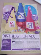 Birthday Fun ABC The World of Cross Stitching Issue 136 April 2008  Saved