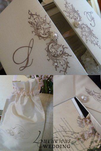 Luxurious Wedding Invitation Style: Mirror Wedding Invitation In White Silk Box