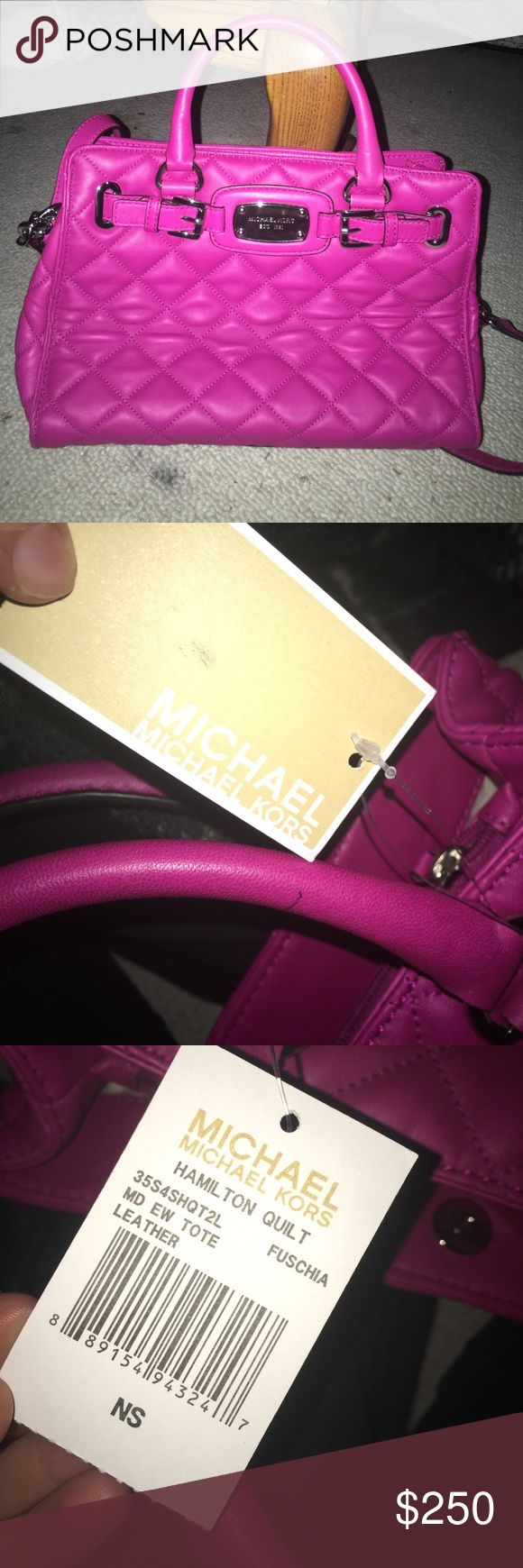 Michael Kors bag Super cute and bright colored never worn but moving and can't take. Brand new for a great price! Michael Kors Bags