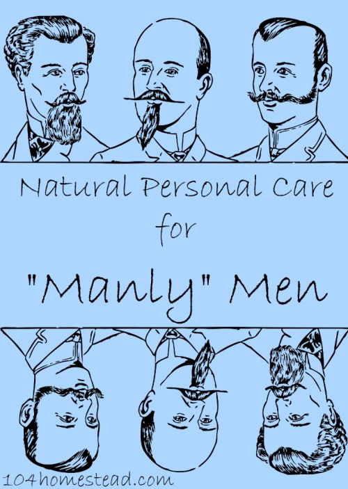 Are you a manly man? Do you have a manly man in your life? Men need pampering too! Get DIY recipes for personal care items for men.