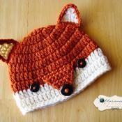 PDF Crochet Pattern - Fox Beanie - via @Craftsy
