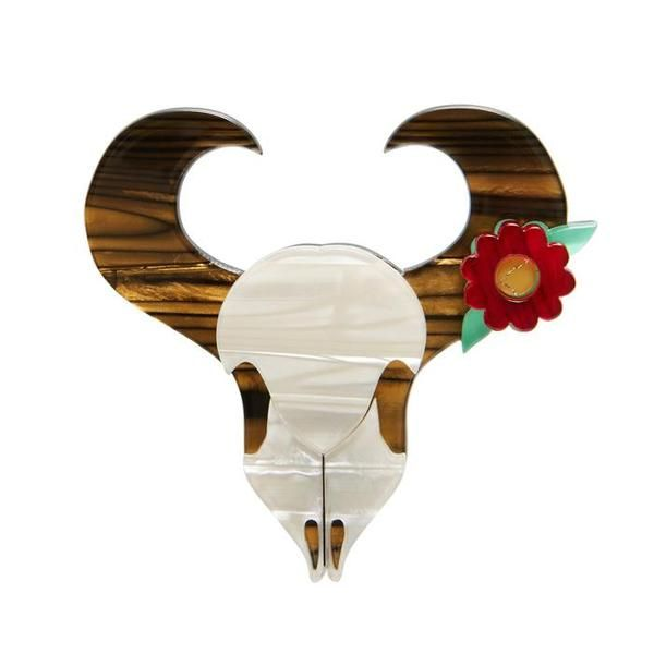 """Erstwilder Collectible Sacred Ground Brooch. """"Representing the indomitable spirit of thunder; abundance and freedom. And they look great in the bedroom, office or patio!"""""""