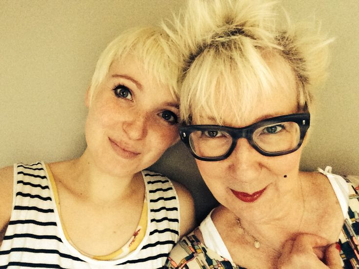 Jenny Eclair's selfie with her daughter for #TellYourDaughter