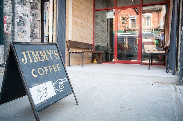 Jimmy's Coffee Kensington -> best space & fantastic outdoor terrace.