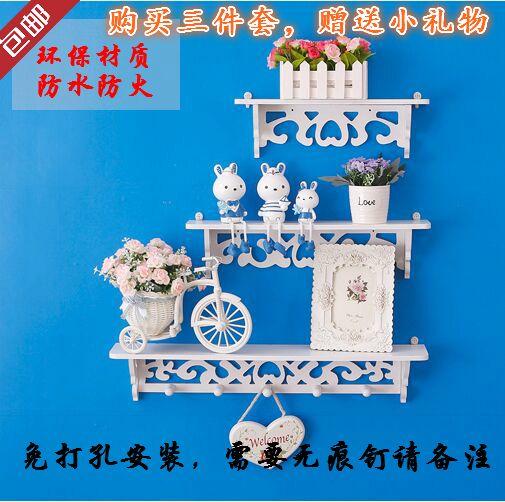 Творческий пастырской стены спальни минималистский современный декор слово телевизор фоне стены стеллажи настенные полки сепаратор - Taobao