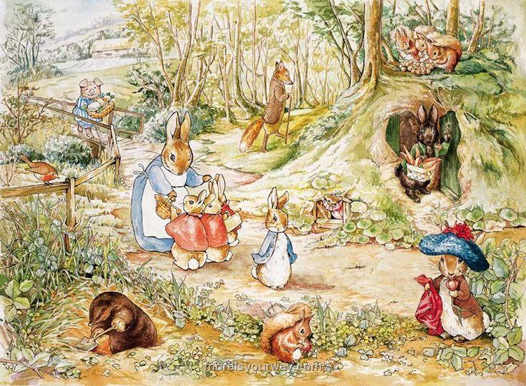 1000 ideas about peter rabbit on pinterest wonderland for Beatrix potter mural