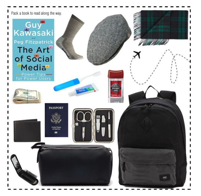 """Transatlantic Personal Bag for Hubby"" by dawnner ❤ liked on Polyvore featuring Vans, Barneys New York, Lacoste, Smartwool, The Men's Store, men's fashion and menswear"