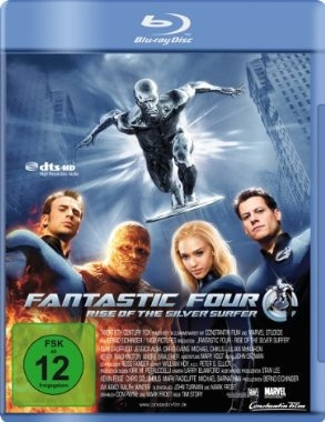 Fantastic Four - Rise of the Silver Surfer  2007 USA,Germany,UK      Jetzt bei Amazon Kaufen Jetzt als Blu-ray oder DVD bei Amazon.de bestellen  IMDB Rating 5,6 (116.671)  Darsteller: Ioan Gruffudd, Jessica Alba, Chris Evans, Michael Chiklis, Julian McMahon,  Genre: Action, Fantasy, Sci-Fi,  FSK: 12