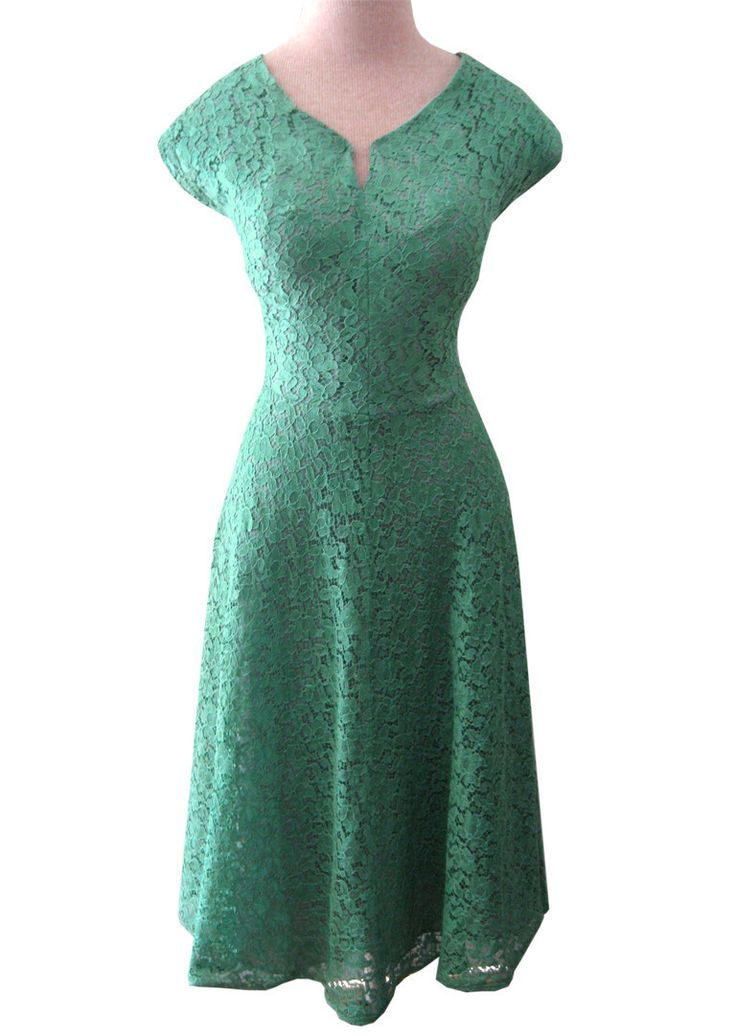 50's Green Lace Dress