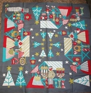 Christmas tablecloth, swedish retro design. Unknown designer