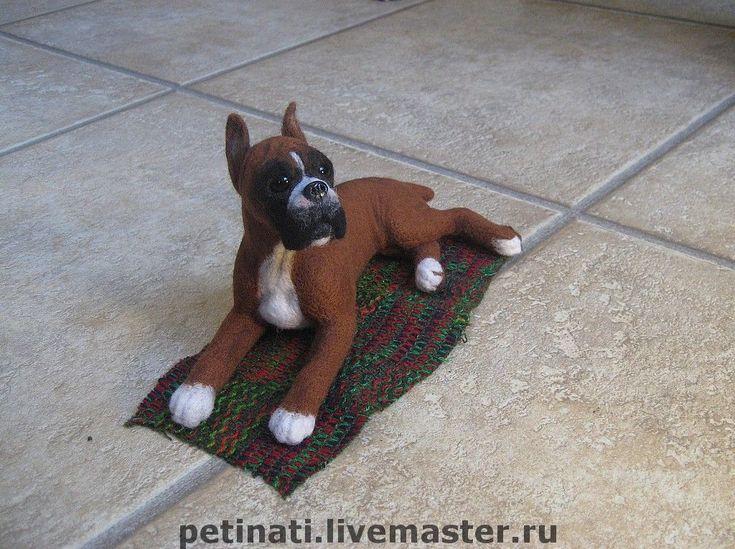The Year Of The Dog handmade. Order dog-puppy' boxercise' felt. Anna Petinati- Live toys handmade. Livemaster.