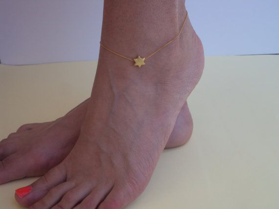 Gold Anklets  Beach Anklets  Delicate Ankle by VasiaAccessories