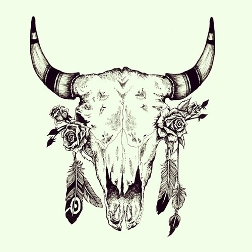cow skull tumblr tattoo designs pinterest indianer. Black Bedroom Furniture Sets. Home Design Ideas