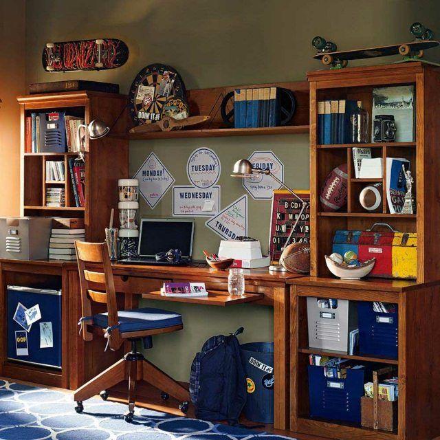 ide dco chambre ado garon bureau en bois chaise en bois coussin skate lampe de bureau - Lamp Bureau Ado