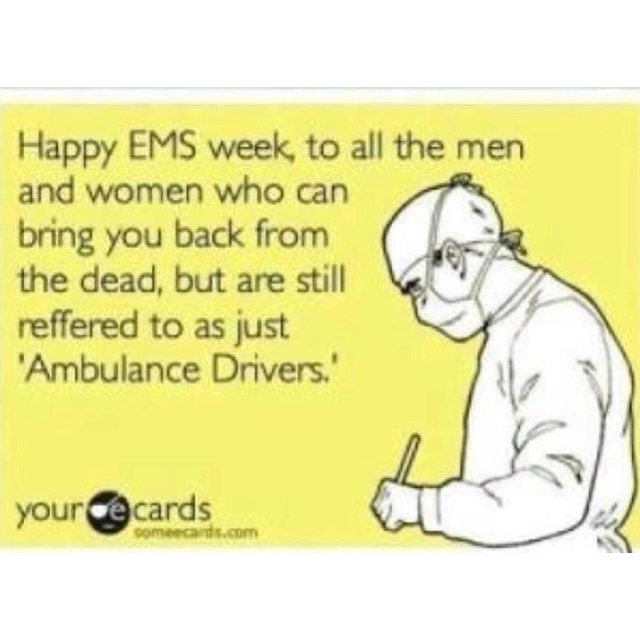 Happy EMS Week! #EMSweekParam Stuff, Emt Firefighters, Ambulance Driver, Emt Stuff, Happy Ems, Ems Life, Funny, Fire Ems, Ems Weeks