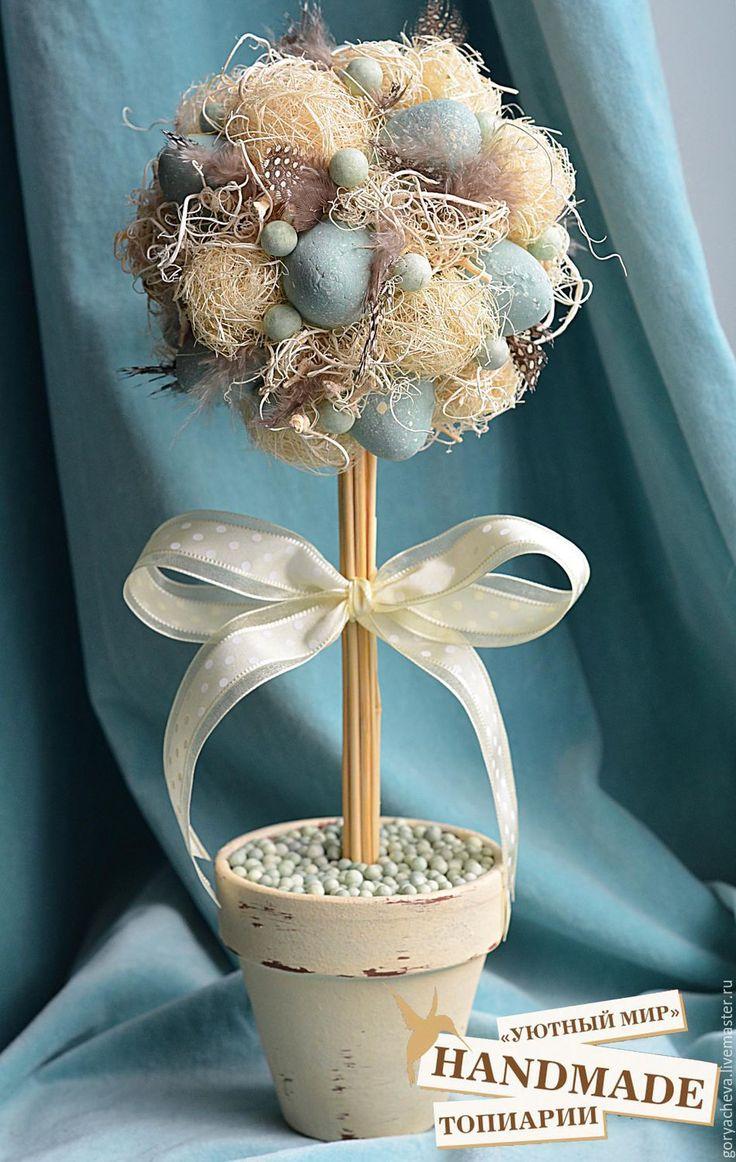 """Купить Топиарий """"ПАСХА"""" - комбинированный, пасхальный топиарий, Пасха, пасхальный сувенир, пасхальный подарок"""