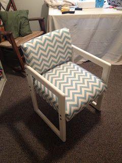 Chair Makeover Chevron