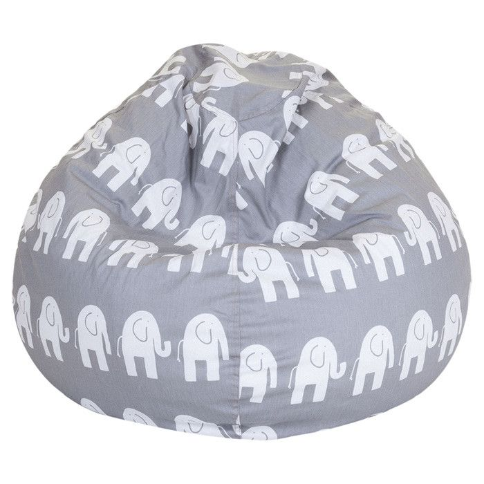 A Great Addition To Any Family Room Or Playroom The Majestic Home Goods Gray Ellie Small Bean Bag Allows Your Child Read Watch Favorite Show In