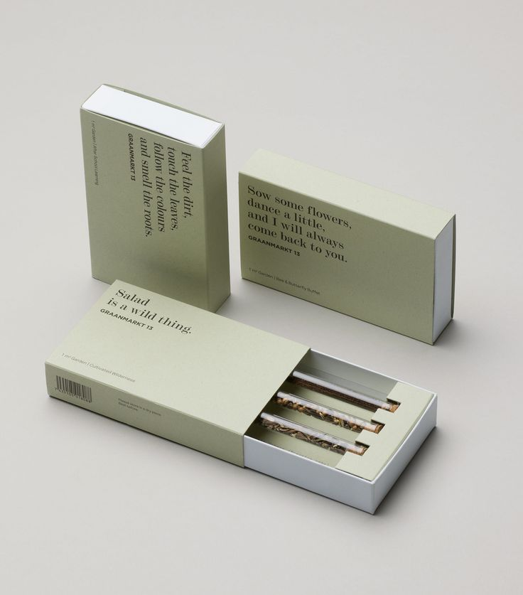 Graphic identity, packaging and copywriting by Base for Garden 13, Graanmarkt 13