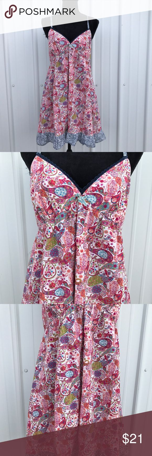 "Liberty Of London For Target Baby Doll Dress Multi colors paisley print. Adjustable spaghetti straps. Elastic waistband and criss cross in the back. 17"" chest. 25"" armpit to hemline. Above knee length. Liberty Of London For Target Dresses Mini"