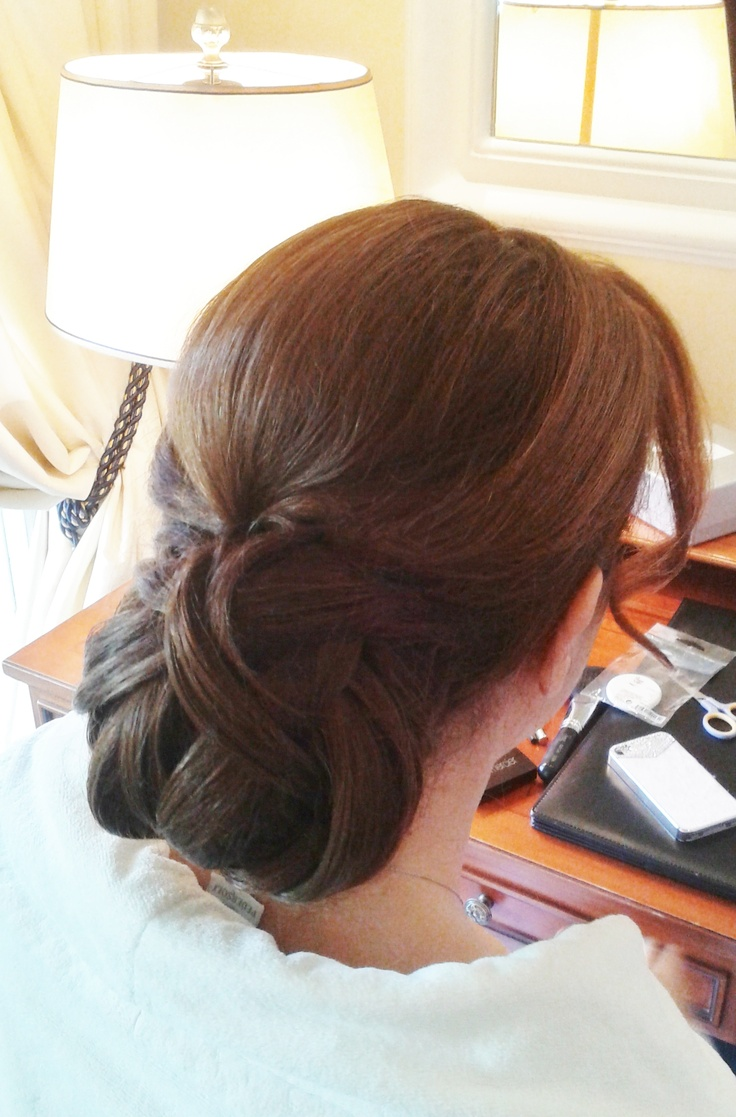 sleek updo by Rome hairdresser Janita http://janitahelova.wix.com/janita-helova