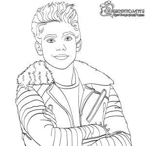 Carlos Descendants 2 Coloring Page Free Movie Coloring