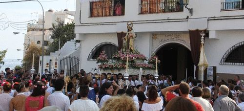 Celebracción de la festividad de la Virgen del Carmen en Almuñécar