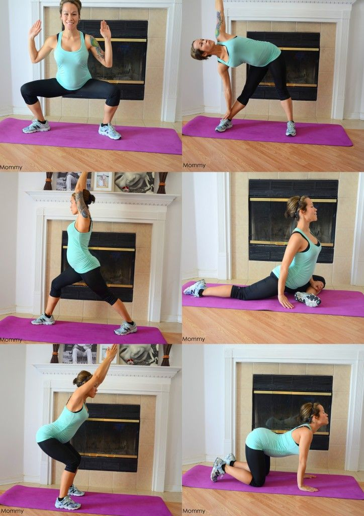At Home Pregancy Yoga Workouts to Slow Weight Gain!