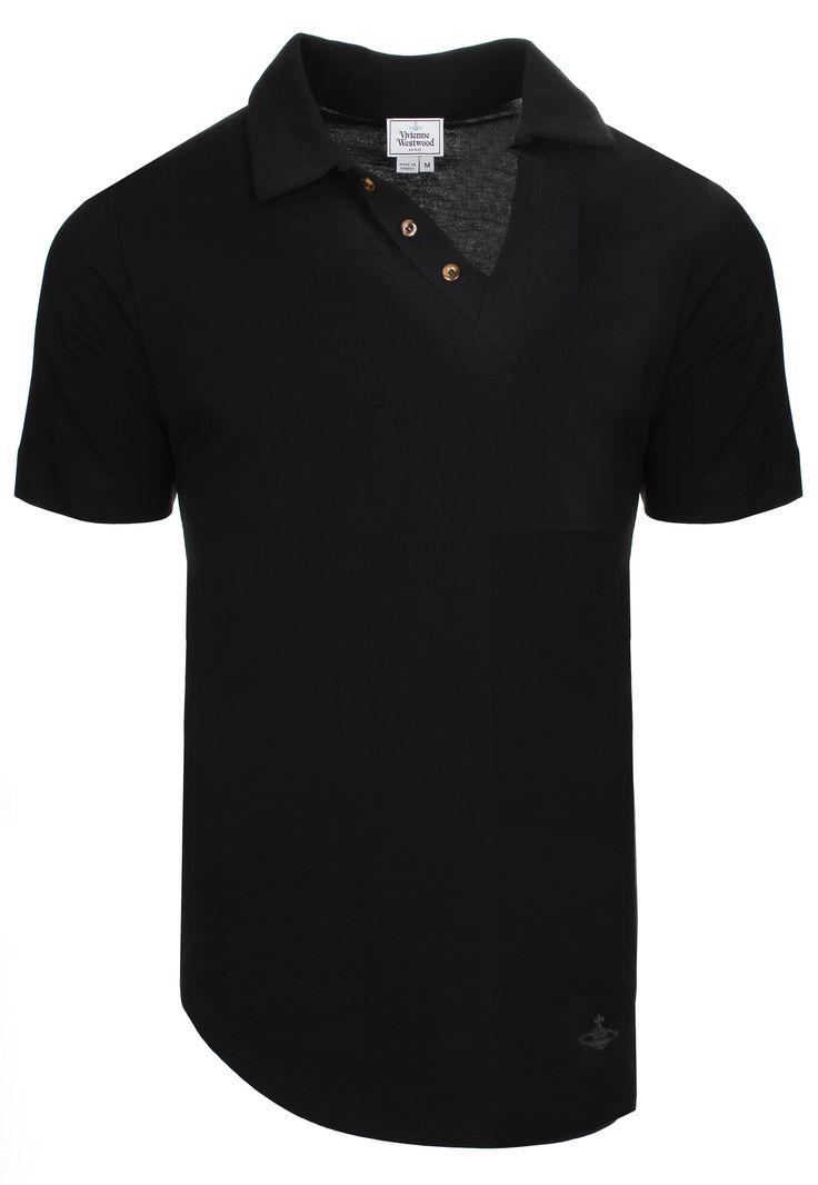 Vivienne Westwood MAN Stripe Asymmetric Polo Shirt