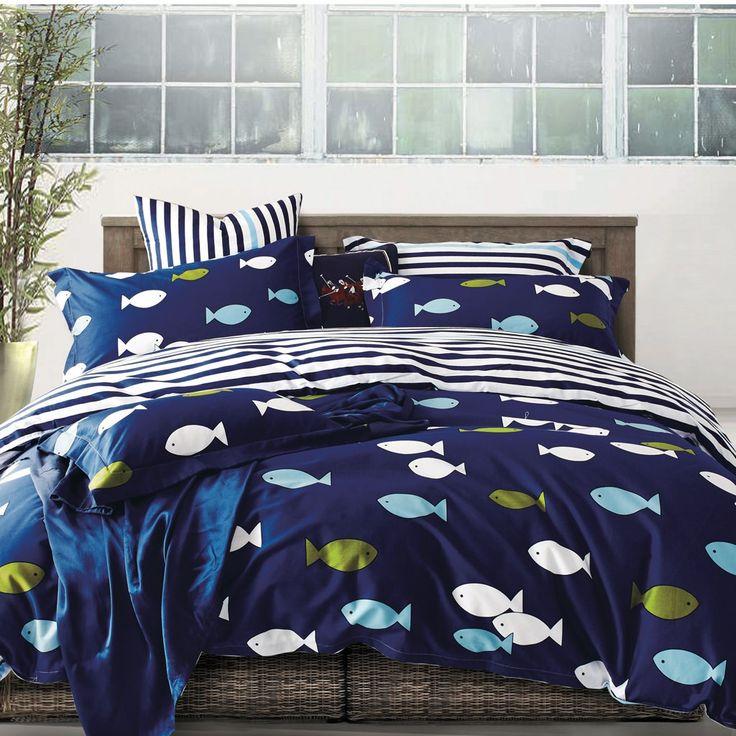 les 25 meilleures id es de la cat gorie couette marine bleue sur pinterest couette de la. Black Bedroom Furniture Sets. Home Design Ideas