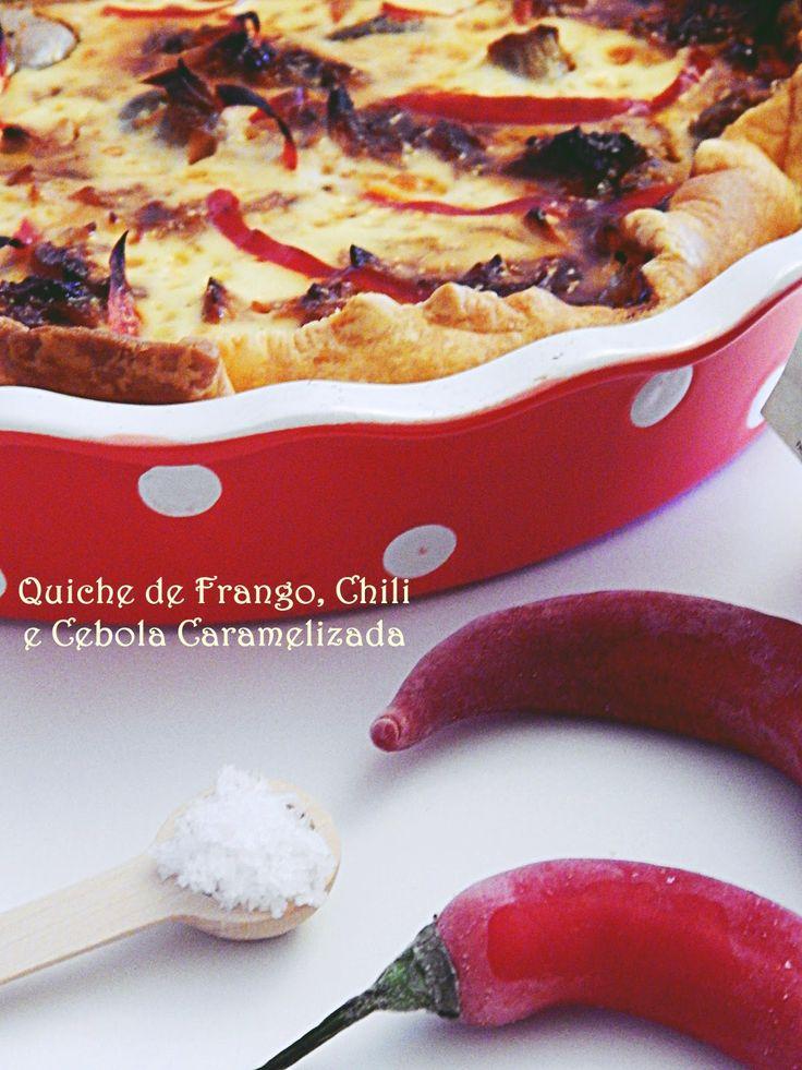 Quiche de Frango, Chili e Cebola Caramelizada - Flor de Sal Marnoto
