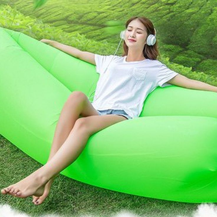 Camping Lazy Bag Inflatable Air Sofa Bed Air Lounge Fast Inflatable Mattress