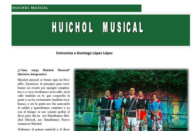 Entrevista a Domingo López López integrante de Huichol Musical publicado en Revista 400 en su número de Agosto. #Revista400 #HuicholMusical #PueblosIndígenas #Zacatecas