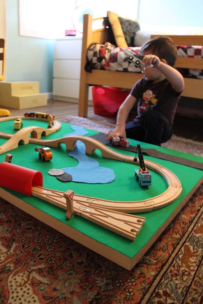 Zebra Rug DIY Train Table