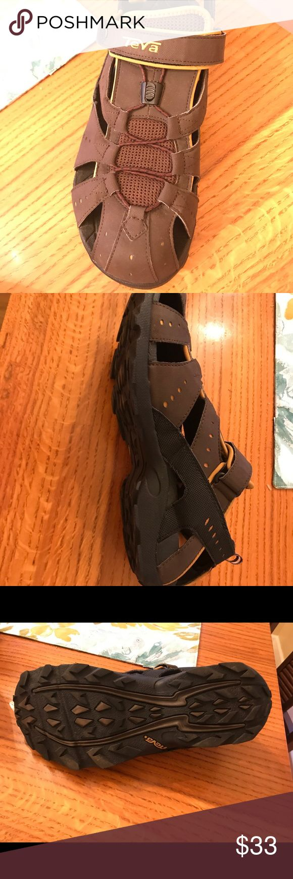 NWOT TEVA MENS SANDALS SIZE 12 NWOT TEVA MENS SANDALS SIZE 12. These run a bit small and my hubby could not wear. $33 FIRM  PERFECT FOR SIZE 11 - 11 1/2! Can supply more pics if needed👍🏻 Teva Shoes Sandals & Flip-Flops