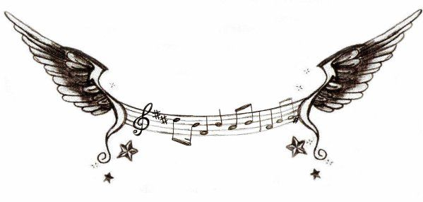 dessin note de musique noir et blanc