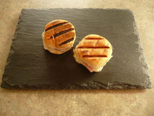 Mini Cuban Sandwiches - using kings hawaiian bread slider rolls since we can't get medianoche bread...