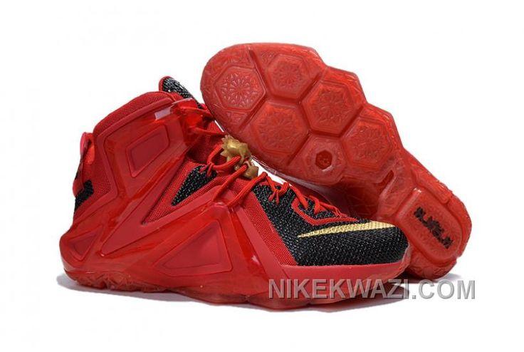 http://www.nikekwazi.com/nike-lebron-12-elite-red-black-gold.html NIKE LEBRON 12 ELITE RED BLACK GOLD Only $88.00 , Free Shipping!