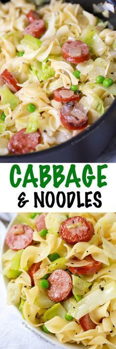 In this Cabbage & Noodles recipe, simple pantry ingredients create a comforting …