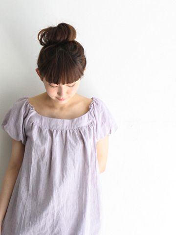 Really cute boatneck top - I like the treatment on the sleeves.